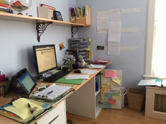 photo: messy desk